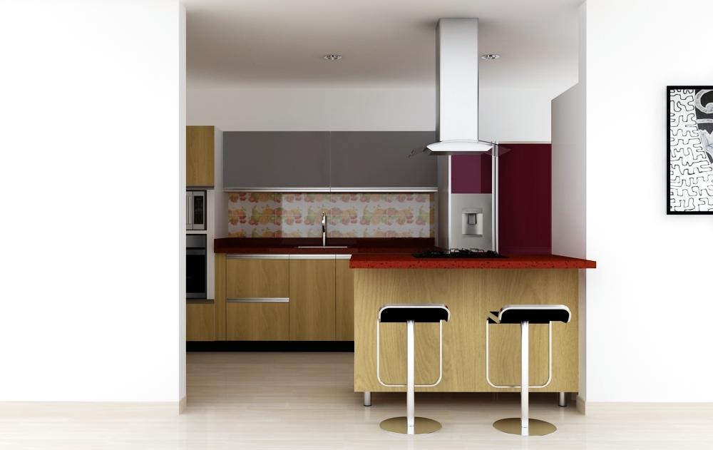 Dise o cocina tipo homecenter cocinas integrales c cuta for Diseno cocina economica