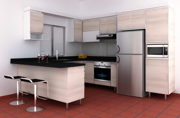 Cocina integral caba a cocinas integrales c cuta for Cocina semi integral